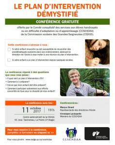 Conférence CCSEHDAA