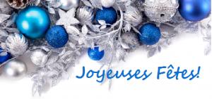 Joyeuses fêtes bleu